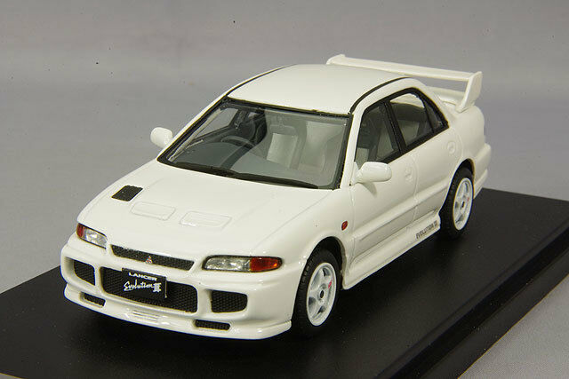 1/43 Hi-Story Mitsubishi Lancer Evolution III 2018 Squaw nivel GSR Blanco HS149WH