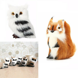 Mini home decoration animal doll ornament gift furry simulation squirrel toy