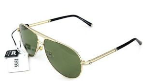 9c41b96b1b POLARIZED RARE NEW Genuine MONT BLANC Gold Green Aviator Sunglasses ...