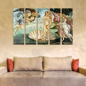 The-Birth-Of-Venus-by-Sandro-Botticelli-Ready-to-hang-canvas-5-Panels-Wall