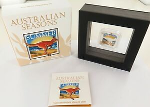 2013-AUSTRALIAN-SEASONS-SUMMER-COLOURED-1OZ-99-99-SILVER-1-BOX-AND-COA