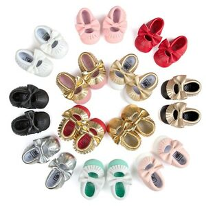 4facc9212c Newborn Infant Toddler Baby Boys Girls Shoes Moccasin Big Bowknot ...