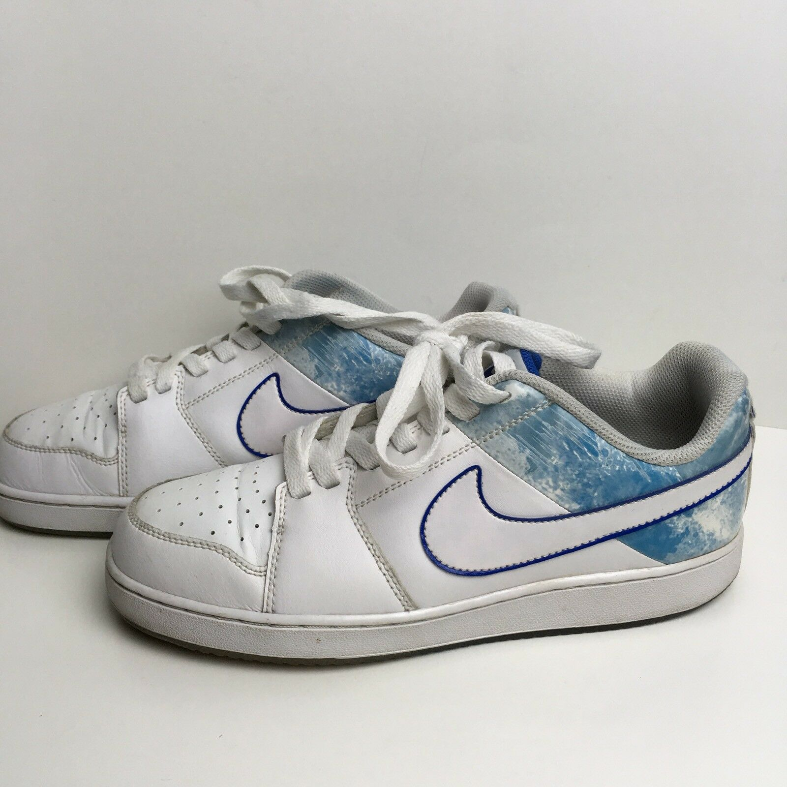 Nike Men's Backboard II Casual White and Varsity Royal Running Shoes Size 7