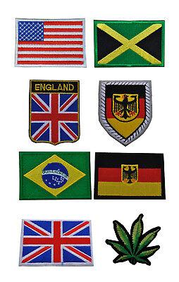 Patch bestickter Aufnäher Wappen Wappen Deutschland deutsch Flagge zum Aufbügeln