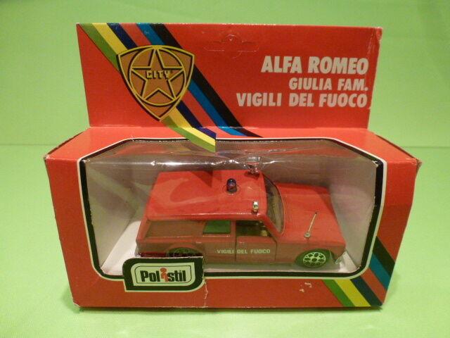 POLISTIL 1 43 ALFA GIULIA VIGILI DEL FUOCO - IN ORIGINAL BOX -   GOOD CONDITION