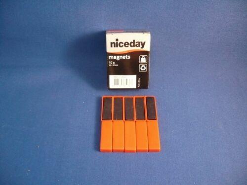 35 x 12 x 5 mm !!! Maße ca 10 starke Magnete im roten Kunststoffgehäuse