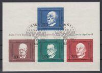 Germany Bund BRD 1968 Θ Bl.4 Adenauer Churchill De Gasperi Schuman Politicians