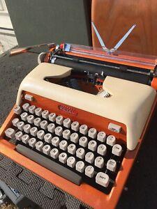 *CUSTOM* Royal Futura 800 HotRod Typewriter Co. Orange/Cream *Blemish Sale*