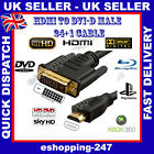 3M Metre HDMI to DVI-D 24+1 Pin HD Digital Cable for True TV LCD Sky BluRay A127