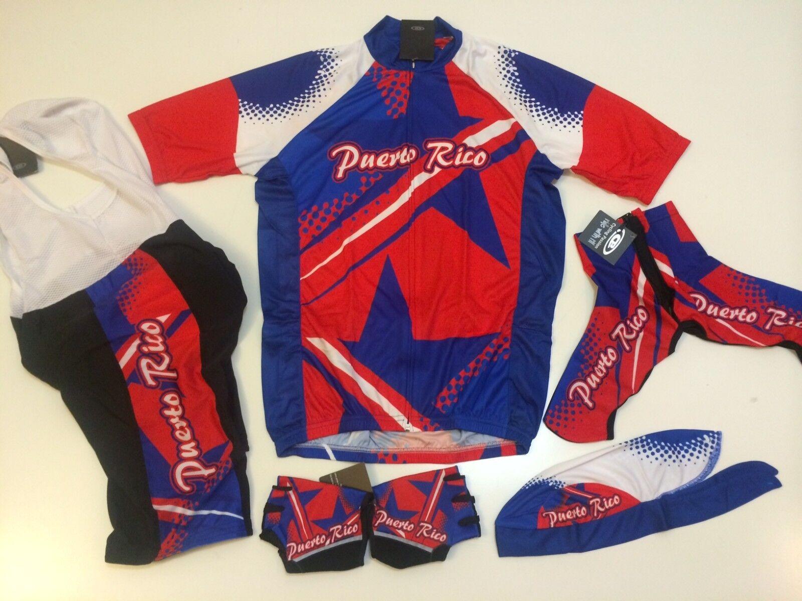 New Größe S - PUERTO RICO RICO PUERTO Team Cycling Bike Set Flag Jersey Bib Shorts Gloves + 3cd1b6