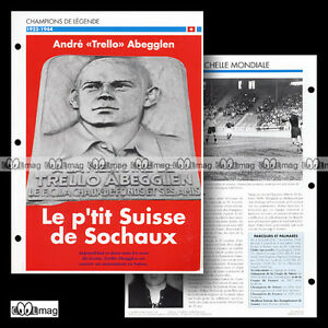 #081.04 - Andre 'trello' Abegglen (servette Fc, Chaux-de-fonds) Fiche Football