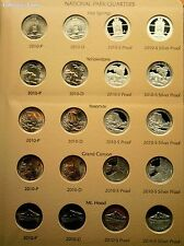 2010- 2015 ATB National Park 140 Quarter Set wClad/Silver Proofs & Dansco Album