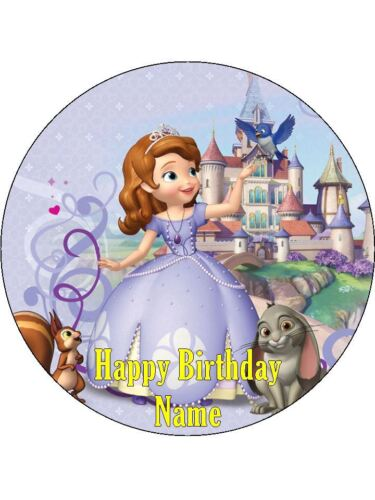 SOFIA THE FIRST Edible Wafer Paper Birthday Cake Decoration /& 12 Cupcake Toppers