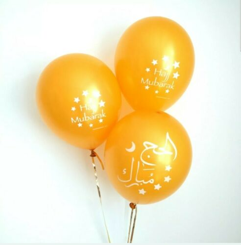 Hajj Mubarak Gold Balloons 10pack *SALE* *RRP £3.99* *30/% OFF* *Limited Stock*