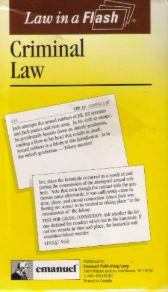 Criminal Law (Law in a Flash Ser) by Walton, Kimm