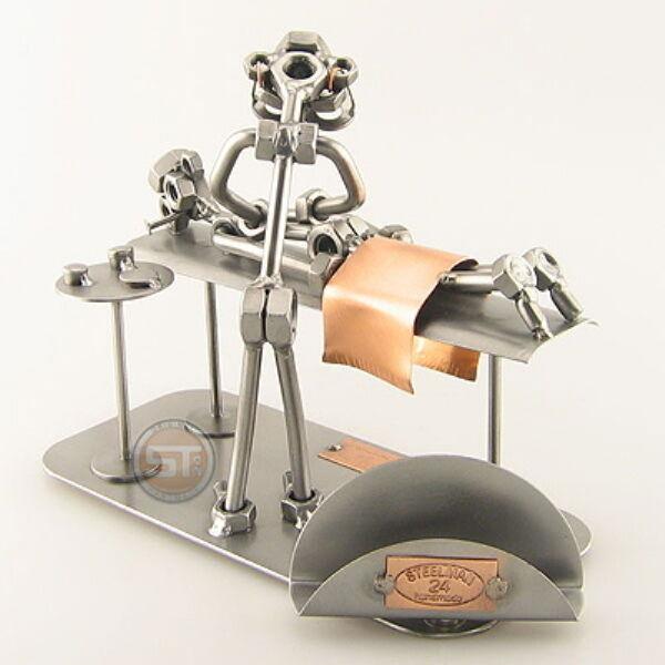 Schraubenmännchen Masseur mit Visitenkartenhalter massieren Massage 0258v