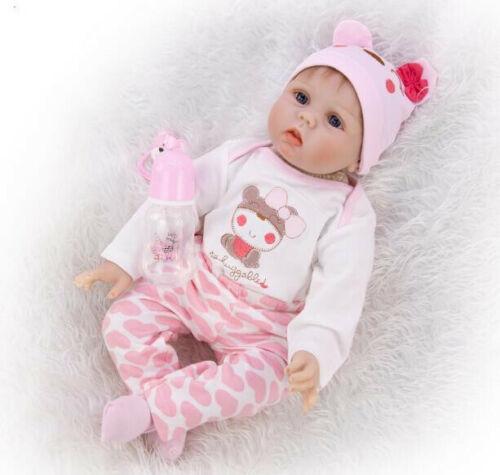 """Reborn Baby Doll 22/"""" Lifelike Silicone Bambole Rinascere Lifelike Toy Regalo IT"""