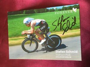 Autogramm STEFAN SCHMID-Triathlon/Triathlet-Deutscher Meister-handsigniert-AK