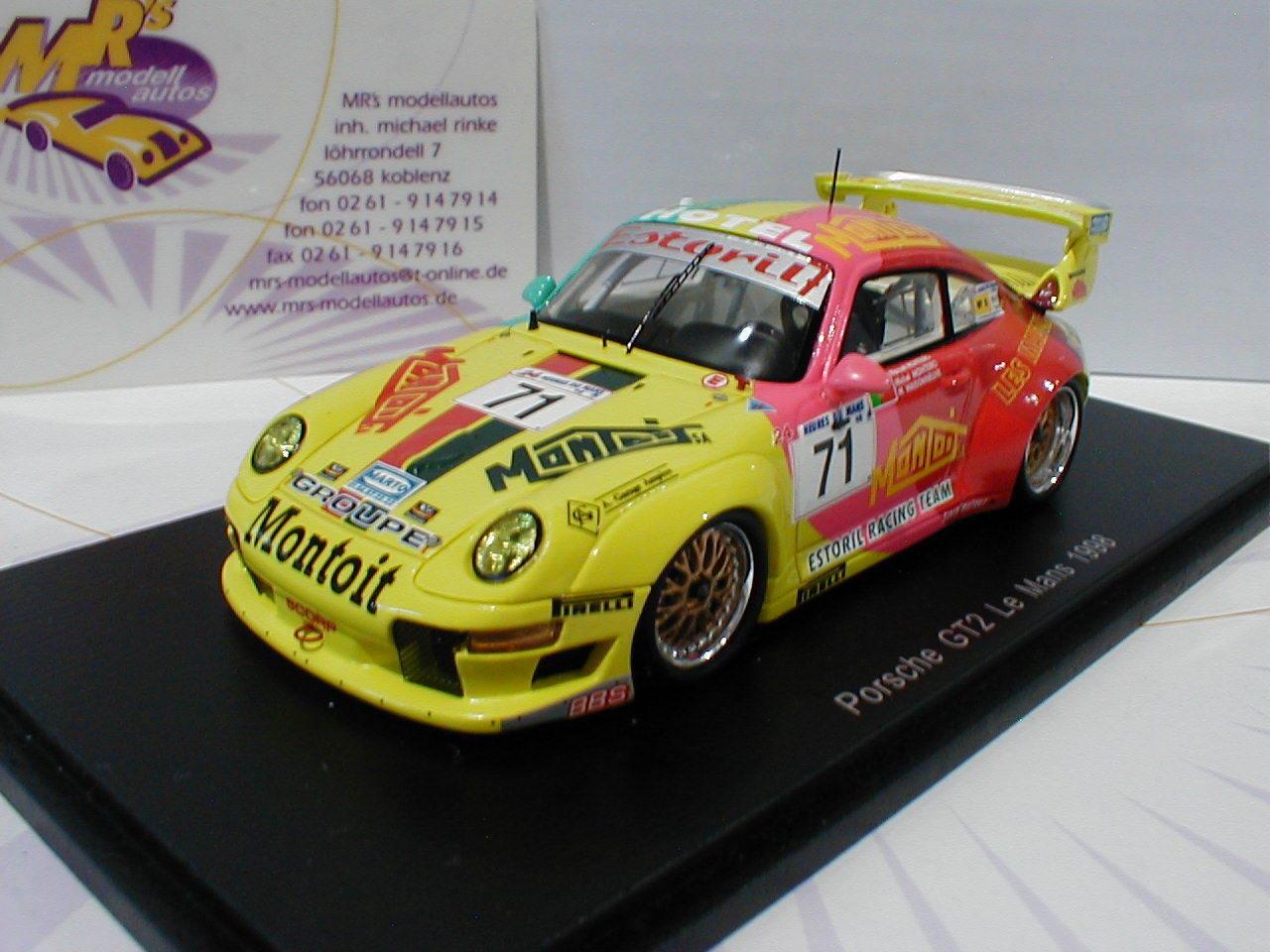 Spark S4758 - Porsche GT2 No.71 Le Mans 1998 M. Maisonneuve,M. Monteiro 1 43