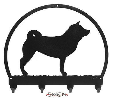 SWEN Products SAMOYED Dog Black Metal Key Chain Holder Hanger