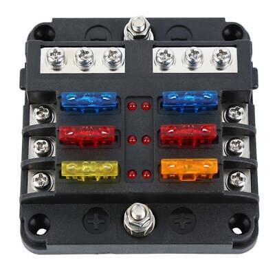 6 Way 32V Blade Fuse Holder Box LED Block Vehicle Kit for Automotive Car  Marine 723044264114 | eBay