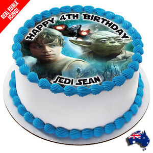 Star Wars Edible Cake Image Personalised Icing Birthday Decoration