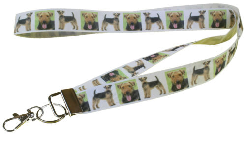 Airedale Terrier Breed of Dog Lanyard Key Card Holder Perfect Gift