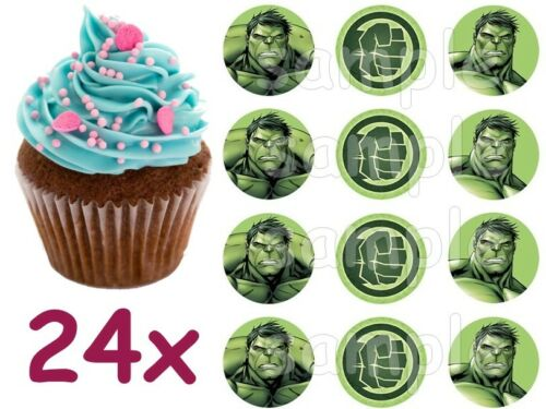 Hulk Avengers Tortenaufleger Geburtstag Party Deko Muffinaufleger eßbar neu grün