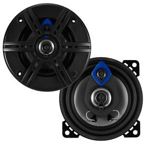 NEW-2-4-034-3-way-Car-Audio-Speakers-4-ohm-Stereo-Pair-OEM-Door-Set-Shallow-Mount
