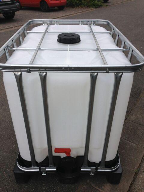 1000  Liter Wassertank GEREINGT! Wasserbehälter Wasserfass Regenwassertank IBC