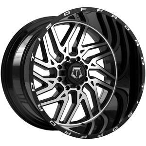 4-TIS-544MB-20x12-8x6-5-034-44mm-Black-Machined-Wheels-Rims-20-034-Inch