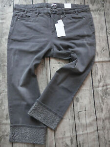 Sheego-7-8-Trousers-Bermuda-Grey-Ladies-Size-44-to-58-plus-Size-311