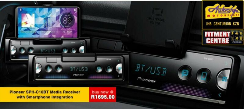 Pioneer SPH-C10BT Media Receiver with Smartphone Integration  Flagship Smartphone Multimedia Tuner w