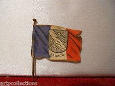 1915 MEDAILLE INSIGNE JOURNÉE SECOURS NATIONAL 14-18 DRAPEAU ALSACE
