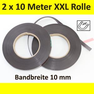 2x-MAGNETBAND-selbstklebend-10-mm-x-10-Meter-Magnetstreifen-Klebeband-Rolle