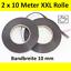 2x-MAGNETBAND-selbstklebend-10-mm-x-10-Meter-Magnetstreifen-Klebeband-Rolle Indexbild 1