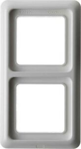 BERKER-132909-Frame-2-x-with-seal-IP44-polar-white-vertical-or-horizontal