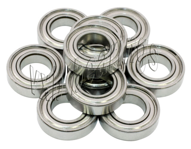 10 Bearing 3*6 SS ABEC-3 mm Metric Ball Bearings VXB