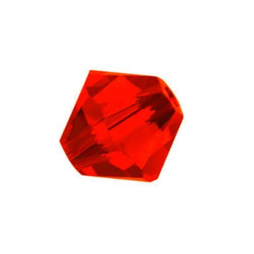 Ligh Siam 5301//5328 Xilion Bicone Kristall Perlen 40 Swarovski Perlen 4mm Rot