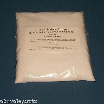 Natural Palm Stearin Candle Wax 500g Makes Wax Less Brittle & Improves Burning