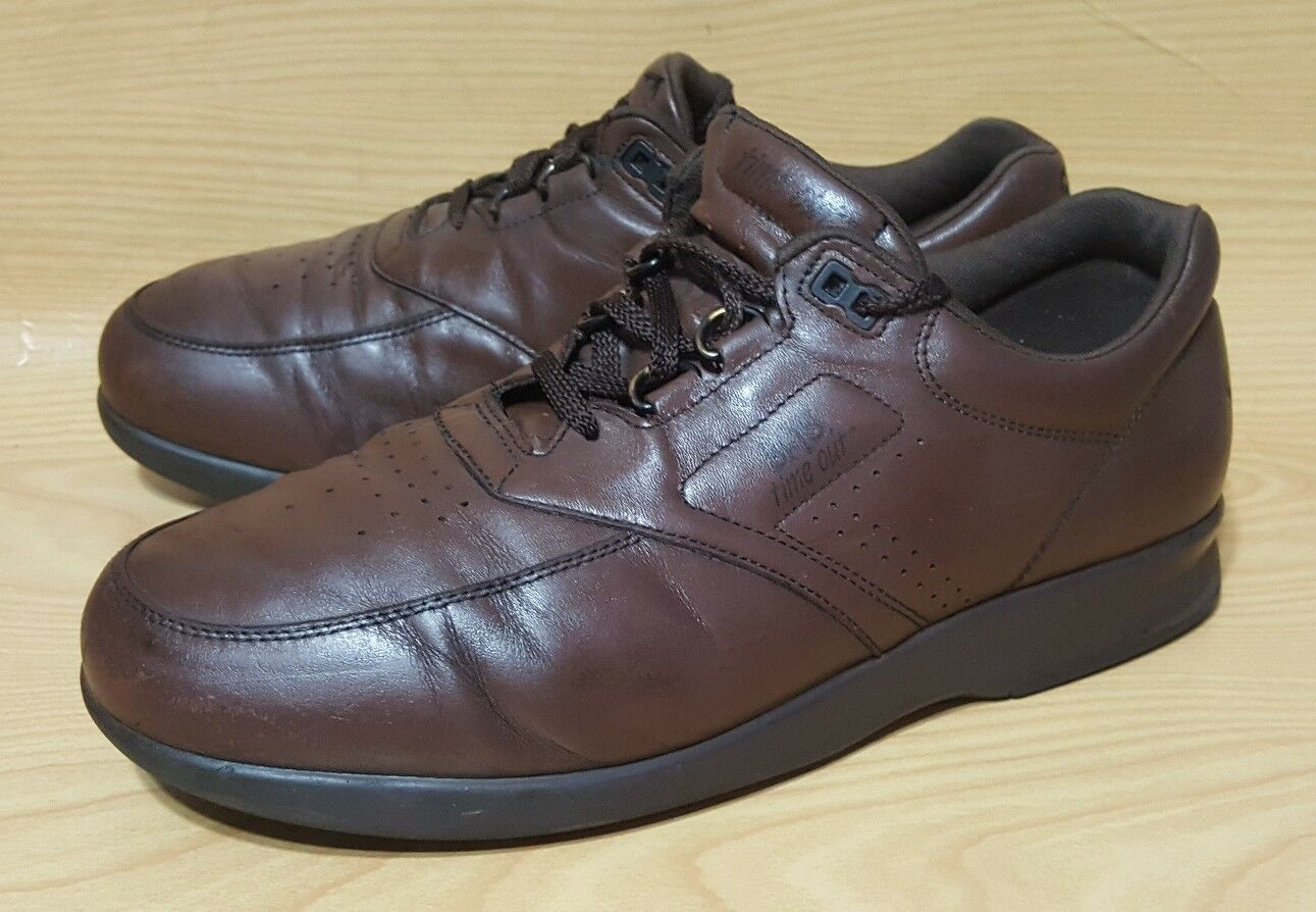 SAS Time Out 11 M Brown Leather Casual Oxfords Mens Shoes
