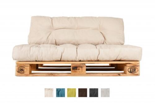 Palettenkissen Beige Natur Paletten-Polster Palettenauflage Kissen Auflage Sofa