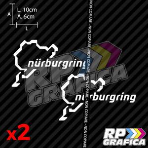COPPIA-ADESIVI-NURBURGRING-PISTA-STICKERS-AUTO-MOTO