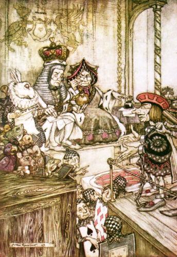 Alice In Wonderland 8x10 print of 1907 Arthur Rackham book plate #12