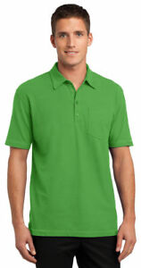 Port-Authority-Men-039-s-New-Golf-Short-Sleeve-Wrinkle-Free-Pocket-Polo-Shirt-K559
