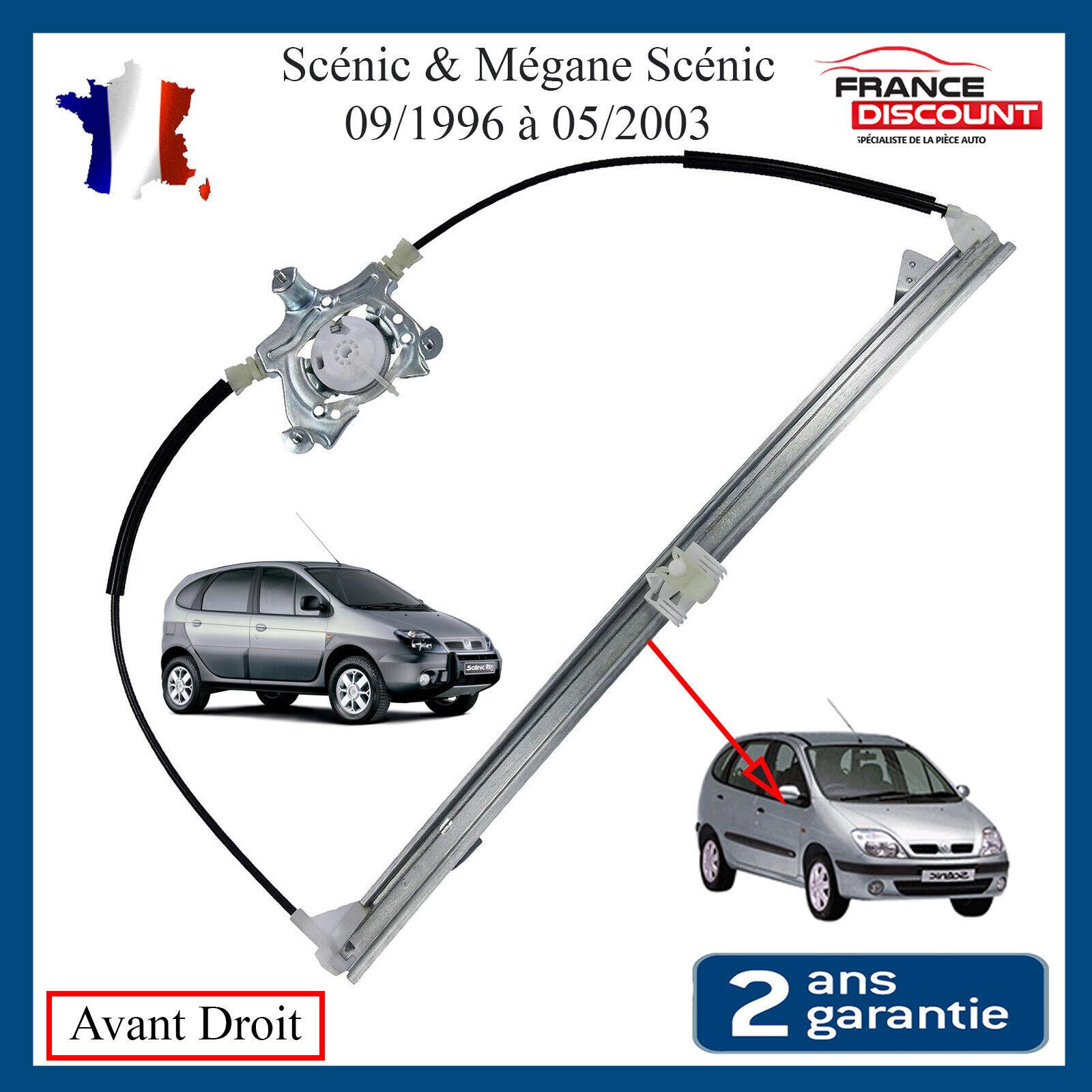 Phase 1 /& 2 Mécanisme de Leve Vitre Avant Droit Renault Scenic 1 7700838591