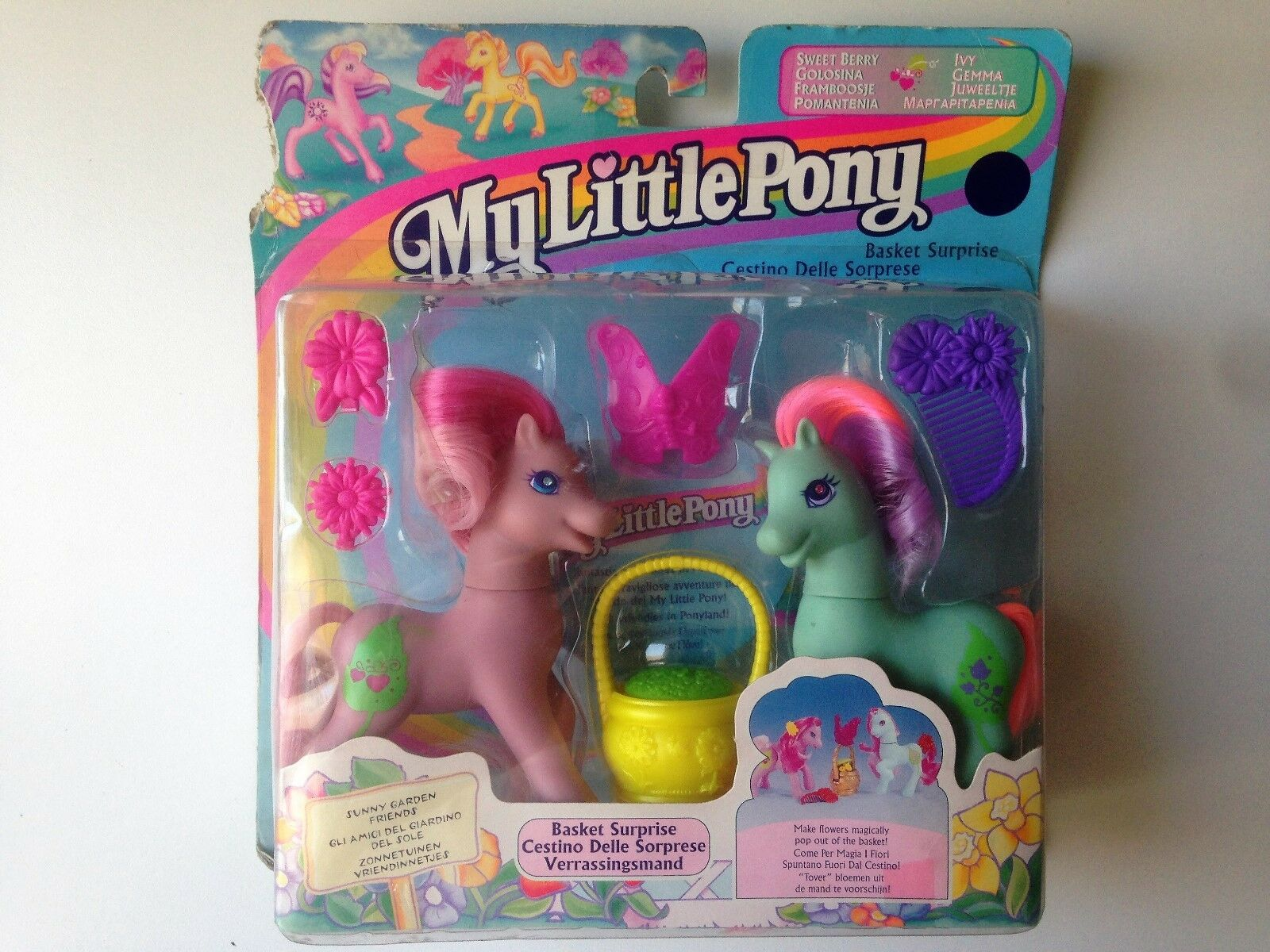 My Little Pony Rare Basket Surprise Sweet Berry Ivy Magic Flowers Hasbro New