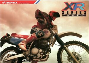 1992-HONDA-XR600RN-250R-200R-100R-80R-BIKE-6-page-Motorcycle-Sales-Brochure-NOS