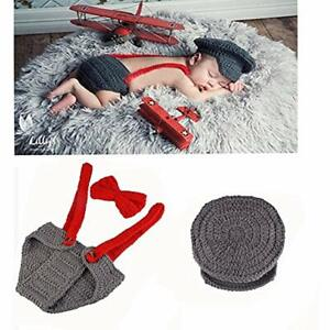 Newborn Baby Kid Boy Costume Crochet Outfits Photography Props Cap Beanie Diaper 603338254666 Ebay