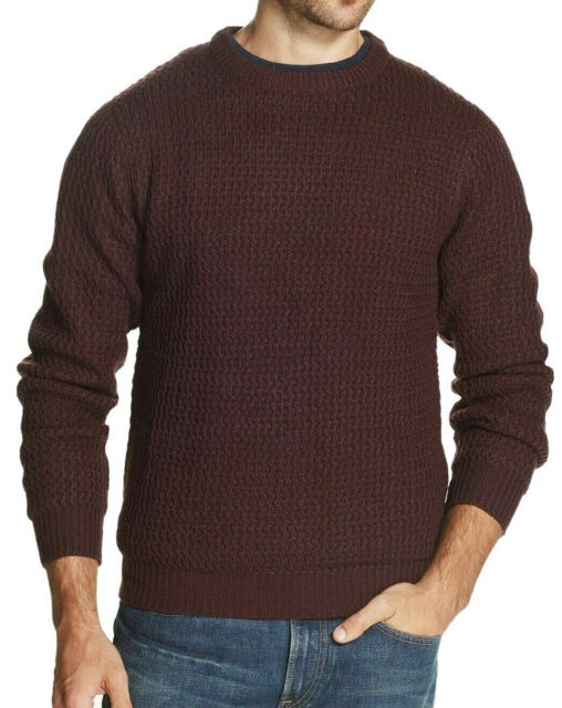 Weatherproof Mens Sweater Red Size 3xl Crewneck Textured Knit Pullover 105